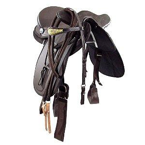 Sela Australiana De Cabeça Marrom Lisa Completa Cavalgadas