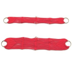 Conjunto de Barrigueira e Cilha de Corda Vermelha