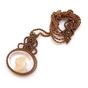 Amuleto de Cristal Quartzo com Infusão