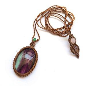 Amuleto de Cristal Fluorita