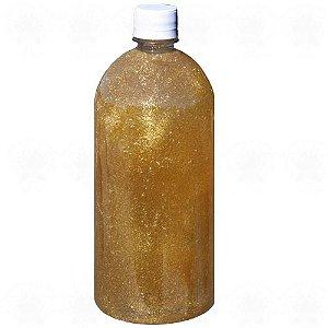 Base para Aromatizador de Ambiente com Glitter Dourador