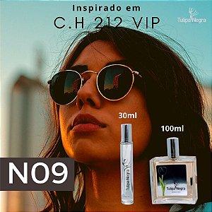 Perfume Tulipa Negra N 09 - Carolina Herrera 212 Vip Feminino