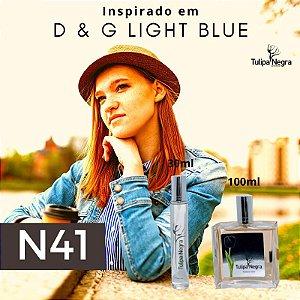 Perfume Tulipa Negra N 41 - Dolce & Gabbana Light Blue Fem.