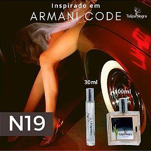 Perfume Tulipa Negra N 19 - Armani Code Fem.