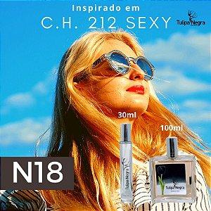 Perfume Tulipa Negra N 18 - Carolina Herrera 212 Sexy Fem.