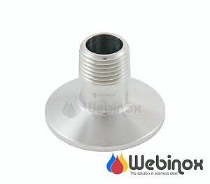 """DUPLICADO -  Niple Adaptador TC 2"""" x BSP/N (Macho) 1"""" Inox 304"""