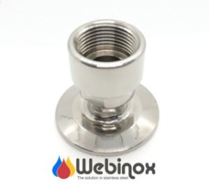 "Niple Adaptador inox 304 TC 1""/ 1.1/2"" x NPT/L 1/2"""