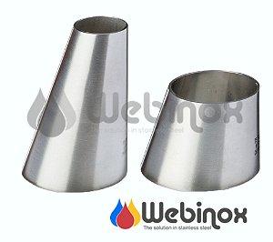 Redução Excêntrica Solda Inox OD