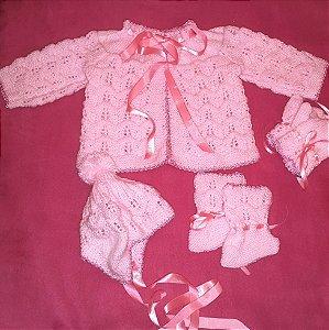 Jogo de Lã para Bebê em trico