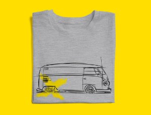 Camiseta VW Kombi por Adonis Alcici - Desenho Automotivo