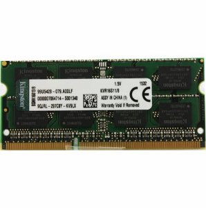 Memoria Notebook 8Gb Ddr3 1600 Sodimm Kingston Kvr16S11/8