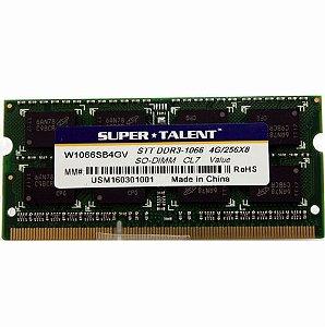 Memoria Notebook 4Gb Ddr3 1066 Sodimm W1066Sb4Gv