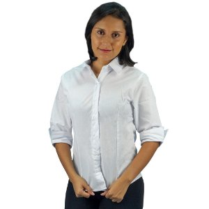 Camisa Social Microfibra Manga 3/4 Feminino