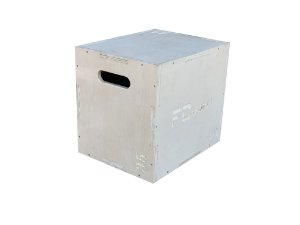 CAIXOTE PLIOMETRICO PLYO BOX MADEIRA 35x40x45cm FC SPORTS
