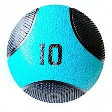 MEDICINE BALL SOLID PVC AZUL/PRETO LIVEUP