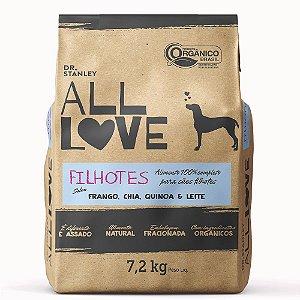 All Love - Filhotes | Frango, Chia, Cenoura & Leite 7,2 kg