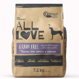 All Love -Grain Free | Frango, Chia, Tapioca& Cúrcuma 7,2 kg