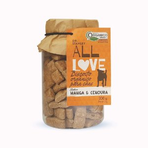 All Love - Biscoito Orgânico para Cães Manga & Cenoura 200g