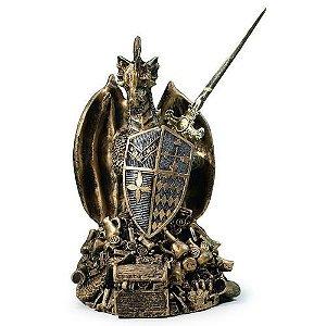 Estátua Dragão guardião Medieval