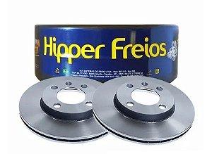 DISCO DE FREIO VENTILADO DIANTEIRO HIPPER FREIOS GOL - VOYAGE ( PAR )