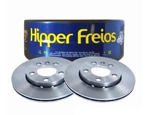 DISCO DE FREIO VENTILADO DIANTEIRO HIPPER FREIOS CROSSFOX / FOX / POLO / SPACEFOX ( PAR )