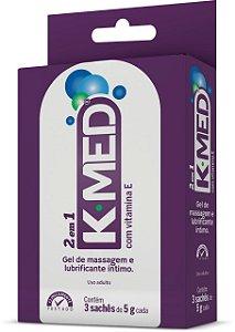 Gel K-Med 2 em 1 (3 sachês de 5g)