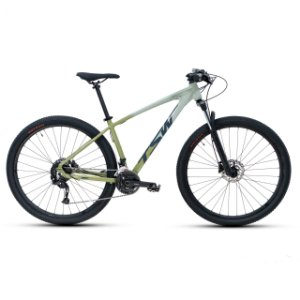 Bicicleta Alum 29 TSW Hunch Plus 27 Vel Hidraulico Cinza/Verde
