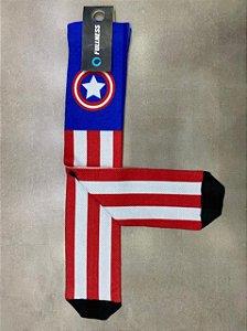 Meia Fullness Capitão América Azul