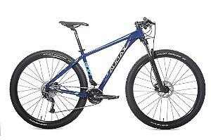 Bicicleta MTB Alum 29 Audax 18 Vel ADX300 Azl/Lar Hidráulica Alívio