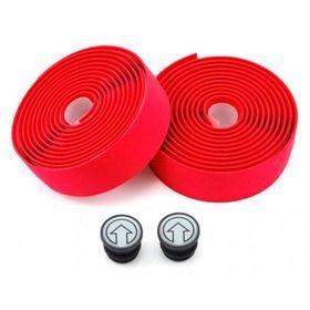 Fita de Guidão Eva Silicone Vermelho 2.5mm 200x30mm