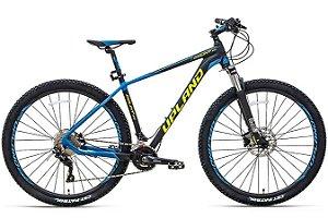 Bicicleta MTB Alum 29 Upland 20 Vel Count 300 Preto/Azul Hidraulica