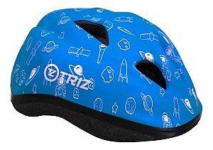 Capacete Bike Triz Infantil Azul