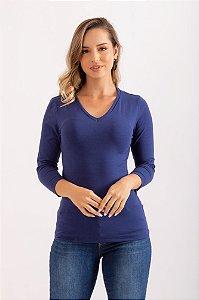 Blusa Gizella azul marinho