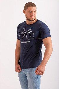 Blusa Bicicleta azul marinho