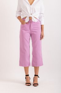 Calça Pantacourt lilás