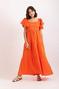 Vestido Diana laranja