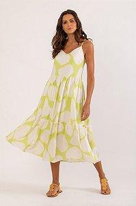 Vestido Filipa verde cítrico