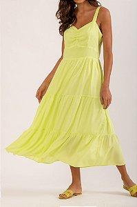 Vestido Ariel verde cítrico