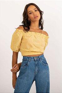 Cropped Marieta amarelo