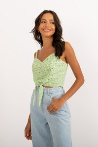 Cropped Penny verde
