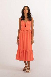 Vestido Leca laranja