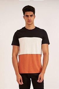 Camiseta Tricolor caramelo