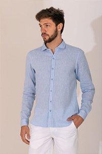 Camisa Linho cor azul