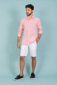 Camisa Linho cor rosa