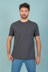 Camiseta Basic Bolso cor mescla escuro