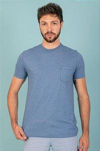 Camiseta Basic Bolso cor azul