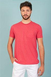 Camisa Basic Bolso cor vermelha