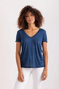 Camiseta Tata azul marinho