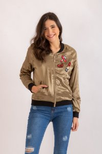 Bomber Patches verde musgo