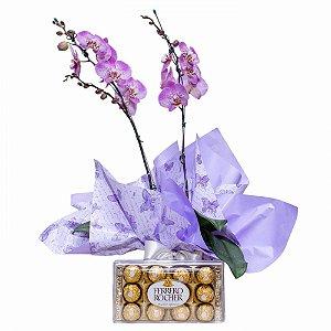 Orquídea Lilás e Ferrero Rocher